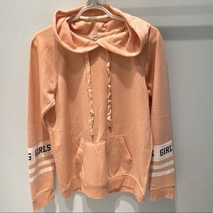 Ardene • Peαch&White long sleeve hoodie «GIRLS»